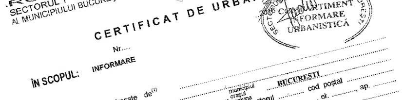 Certificat de urbanism Bucuresti